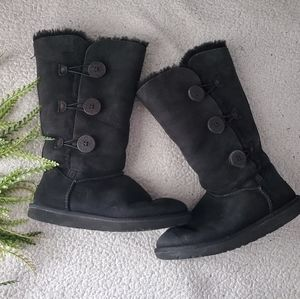 UGG | Leather Winter Boots | Size 8 | GUC!